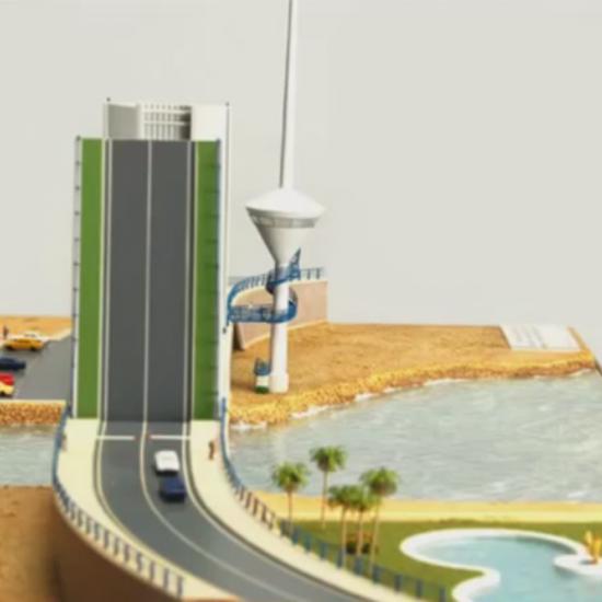 Escuela de Arte Murcia - Trabajos de alumnos -Maqueta puente móvil de La Manga del Mar Menor