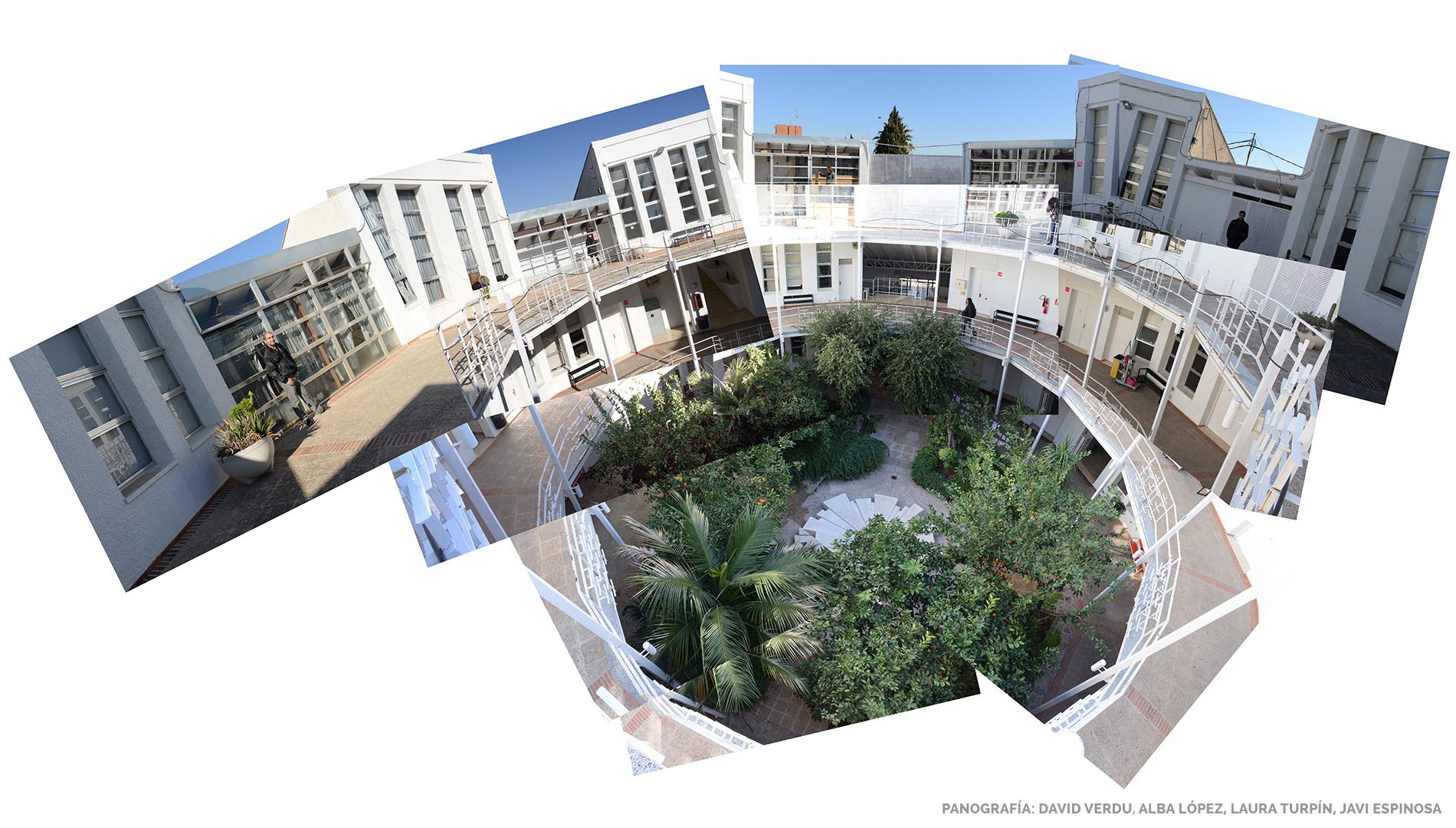 Escuela de Arte Murcia - Panografía del interior creada por alumnos de Fotografía