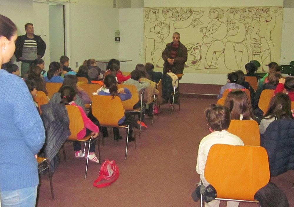 Alumnos y maestros del CEIP Belén